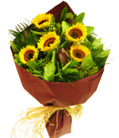 send Sunflower Bouquet to Hongkong